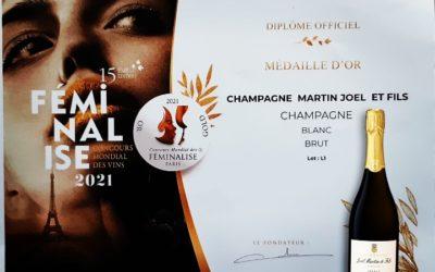 Médaille d'or au concours mondial Féminalise 2021